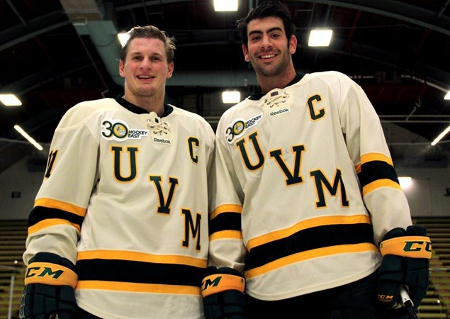49d80f3f1b5 Men s Hockey Unveils 50th Anniversary Home Jersey for 2013-14 Season -  University of Vermont Athletics