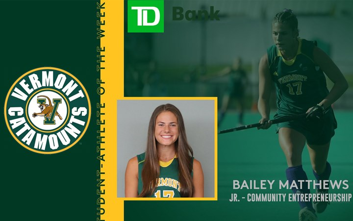 TD Bank Student-Athlete of the Week: Bailey Matthews